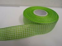 Light baby Blue 2 metres or full roll x 5mm Gingham Ribbon Double Sided check UK